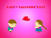 Concepto del amor para el fondo del día de tarjeta del día de San Valentín Fotos de archivo libres de regalías