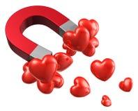 Concepto del amor y de la atracción Foto de archivo