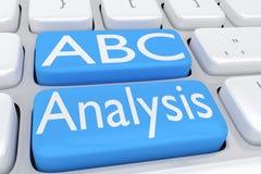 Concepto del análisis de ABC Fotos de archivo libres de regalías