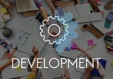 Concepto del análisis de la acción de negocio del desarrollo Fotografía de archivo