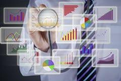 Concepto del análisis financiero Fotografía de archivo