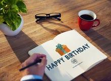 Concepto del aniversario de la ocasión del evento del feliz cumpleaños Imágenes de archivo libres de regalías