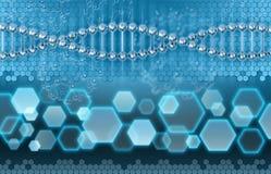 Concepto del análisis de la DNA Imagen de archivo
