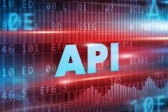 Concepto del API Imagenes de archivo