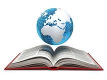 Concepto del aprendizaje electrónico de Internet de la educación Conecte a tierra y abra el isola del libro stock de ilustración