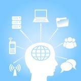 Concepto del aprendizaje electrónico Imagenes de archivo