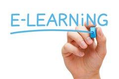 Concepto del aprendizaje electrónico Foto de archivo