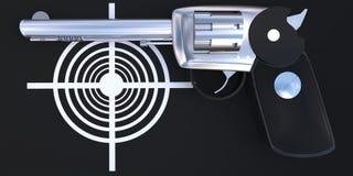 concepto del arma 3d y de la blanco Imagen de archivo