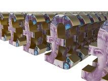 Concepto del arsenal de Sterling Pound Foto de archivo libre de regalías