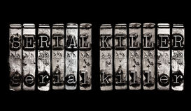 Concepto del asesino en serie Fotografía de archivo libre de regalías