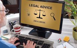 Concepto del asesoramiento jurídico en un ordenador fotos de archivo libres de regalías