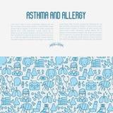 Concepto del asma y de la alergia libre illustration
