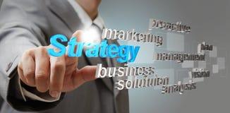 concepto del asunto de la estrategia 3d Fotografía de archivo