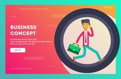 Concepto del asunto Hombre de negocios que corre en rueda del hámster Ilustración del vector libre illustration