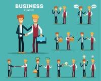 Concepto del asunto Hombres de negocios Metáforas del negocio ilustración del vector