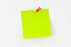 Concepto del asunto - nota del recordatorio Imágenes de archivo libres de regalías