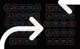 Concepto del asunto Vector del asunto de la presentaci?n Template Infographic, sistema de los gr?ficos, organigramas ilustración del vector