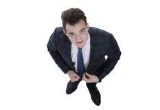 Concepto del asunto visión desde arriba de un hombre de negocios respetable Foto de archivo