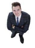 Concepto del asunto visión desde arriba de un hombre de negocios respetable Fotografía de archivo