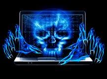 Concepto del ataque del pirata informático Fotos de archivo libres de regalías