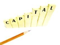 Concepto del aumento de capital Imagen de archivo libre de regalías