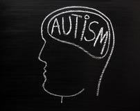 Concepto del autismo Imágenes de archivo libres de regalías