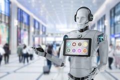 Concepto del ayudante del robot libre illustration