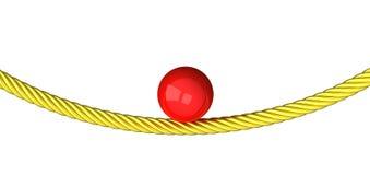 Concepto del balance - bola en la cuerda 3d Fotografía de archivo