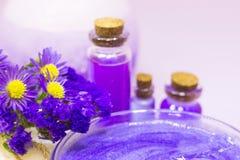 Concepto del balneario del aromatherapy de la lavanda fotografía de archivo libre de regalías