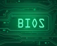 Concepto del BIOS. Imagen de archivo libre de regalías