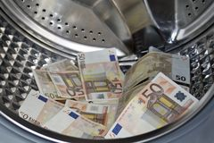 Concepto del blanqueo de dinero Imágenes de archivo libres de regalías