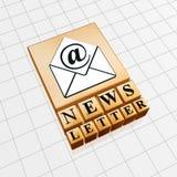 Concepto del boletín de noticias Imagen de archivo libre de regalías