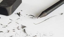 Concepto del borrado del error, concepto del cambio fotos de archivo libres de regalías