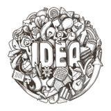 Concepto del bosquejo de los garabatos para el negocio, las finanzas y la comunicación Ilustración del vector libre illustration