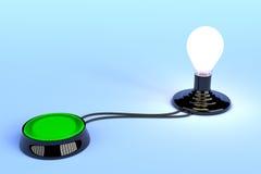 Concepto del botón de la idea Fotos de archivo