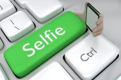 Concepto del botón de Selfie Fotografía de archivo