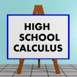 Concepto del cálculo de la High School secundaria Fotografía de archivo libre de regalías