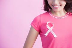 Concepto del cáncer de pecho de la prevención fotografía de archivo libre de regalías