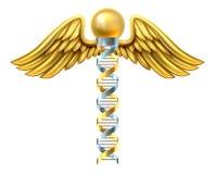 Concepto del caduceo de la DNA Foto de archivo