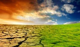 Concepto del calentamiento del planeta Imágenes de archivo libres de regalías