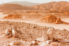 Concepto del calentamiento del planeta del fondo del paisaje del desierto Foto de archivo