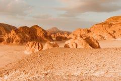 Concepto del calentamiento del planeta del fondo del paisaje del desierto Fotos de archivo libres de regalías