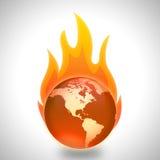 Concepto del calentamiento del planeta y del cambio de clima Foto de archivo