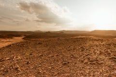 Concepto del calentamiento del planeta del fondo del paisaje del desierto Fotografía de archivo