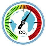 Concepto del cambio de clima y del calentamiento del planeta Foto de archivo libre de regalías