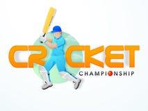 Concepto del campeonato del grillo con el bateador Imagenes de archivo