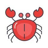 Concepto del cangrejo Ilustración del Vector