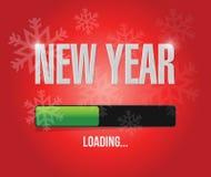 concepto del cargamento del Año Nuevo de los copos de nieve Foto de archivo libre de regalías