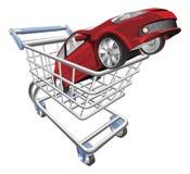 Concepto del carro de compras del coche Fotos de archivo libres de regalías
