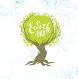 Concepto del cartel de Eco del vector de la reutilización de Live Think Green Recycle Reduce en fondo orgánico del Grunge Fotografía de archivo